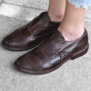 Bedstu Rose Leather Slip On Loafer